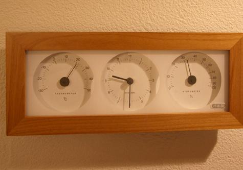 奈の町事務所室温計