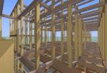 3D構造フレーム 高畑の家Ⅱ