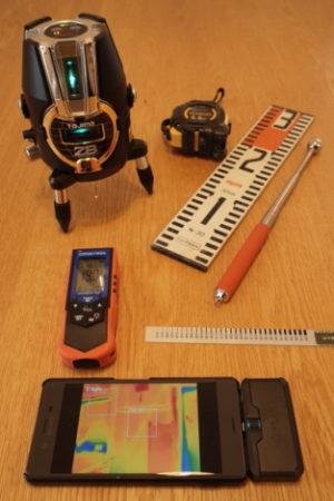 建物調査に使用する機器類